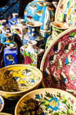 Traditional ceramic in local Israel market. — Photo