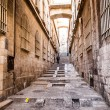 Narrow stone streets of ancient Tel Aviv, Israel — Stock Photo