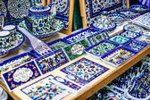 Traditional ceramic in local Israel market. — Zdjęcie stockowe