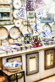 Ceramic bells as souvenir from Jerusalem, Israel. — Stock Photo