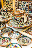 Traditional ceramic in local Israel market. — Foto de Stock