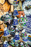 Ceramic bells as souvenir from Jerusalem, Israel. — Foto de Stock