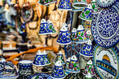 Ceramic bells as souvenir from Jerusalem, Israel. — Stockfoto