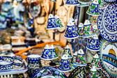 Campanas de cerámicas como recuerdo de Jerusalén, israel. — Foto de Stock