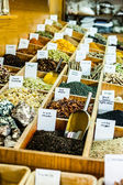 Spices on display in open market in Israel. — Stock Photo
