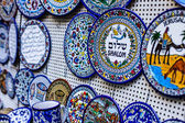 Traditional ceramic in local Israel market. — Stockfoto