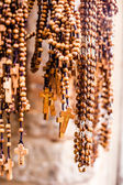 Crosses sold in Via Dolorosa street market, Jerusalem Old City, Israel. — Stock Photo
