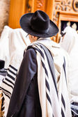 Jews praying at the Western Wall - Jerusalem. — Stock Photo