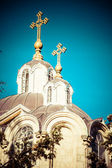 Russian church on Russian Court in Jerusalem — Stock Photo