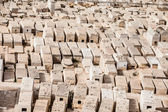 Jewish Cemetery with Jerusalem, Israel. — Stock Photo