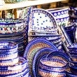 Stock Photo: Colorful ceramics in traditonal polish market.