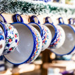 Colorful ceramics in traditonal polish market. — Stock Photo #37699805