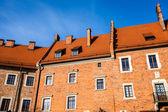 Wawel Castle square on sunny summer day in Krakow, Poland — Stok fotoğraf