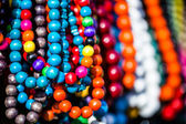 Wooden colored beads on display on the market in Zakopane, Poland — Stock Photo