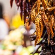 Red Chili Peppers hanging. Close up. — Stock Photo #38248625