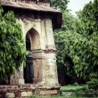 Lodi Gardens. Islamic Tomb (Seesh Gumbad and Bara Gumbad) set in landscaped gardens. 15th Century AD. New Delhi, India. — Stock Photo #38249765