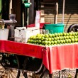 Stock Photo: Asifarmer's market selling fresh fruits
