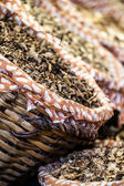 Dried mushrooms in a market, in La Boqueria, market Barcelona — Foto Stock
