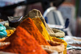 Indian colored spices at local market. — Stock Photo