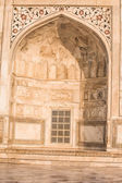 Taj mahal , A famous historical monument, A monument of love, the Greatest White marble tomb in India, Agra, Uttar Pradesh — Stock Photo