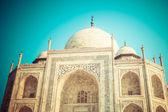 Taj mahal, słynnych zabytków, pomnik miłości, największe biały nagrobek marmur w Indiach, agra, uttar pradesh — Zdjęcie stockowe