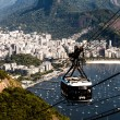 Stock Photo: Cable car to Sugar Loaf in Rio de Janeiro