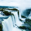 Iguassu Falls, the largest series of waterfalls of the world, view from Brazilian side — Stock Photo