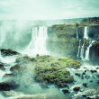 Iguassu Falls, the largest series of waterfalls of the world, view from Brazilian side — Stock Photo #39156317