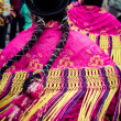 Peruvian dancers at the parade in Cusco. — Stock Photo