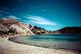 Isla del sol no lago titicaca, bolívia. — Foto Stock