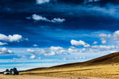 A desert on the altiplano of the andes in Bolivia — Stock Photo