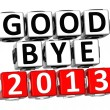 3D Good Bye 2013 Button Click Here Block Text — Zdjęcie stockowe