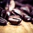 Coffee bean on macro for background — Stock Photo #39851471