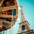 Stock Photo: Eiffel tower is one of most recognizable landmarks in world.