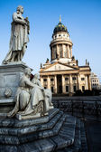 Gendarmenmarkt in Berlin, Germany. View on German Cathedral and Konzerthaus. — Stock Photo