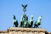 The Quadriga on top of the Brandenburg gate, Berlin  — Foto de Stock
