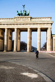 Berlin. City symbol Brandenburg gate, Germany. — Stock Photo
