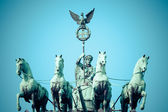 The Quadriga on top of the Brandenburg gate, Berlin — Stock Photo