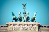 The Quadriga on top of the Brandenburg gate, Berlin  — Stok fotoğraf