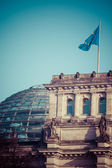 The Reichstag building (1884-1894) seat of the German parliament, designed by Paul Wallot, Berlin, Germany  — Stockfoto