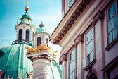 Iglesia de San Carlos (karlskirche), Viena — Foto de Stock