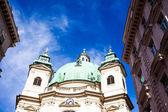 Vienna, avusturya - ünlü peterskirche (aziz peter kilisesi) — Stok fotoğraf