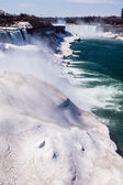 Niagara Falls in winter.  — 图库照片