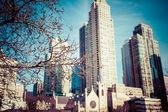 芝加哥天际鸟瞰图 — 图库照片