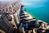 Chicago Skyline Aerial View  — Stock Photo