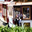 Постер, плакат: San francisco Hyde Street Cable Car Tram of the Powell Hyde in California USA