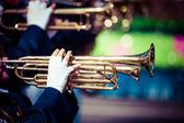 Духовой оркестр в единообразного выполнения — Стоковое фото