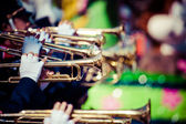 Brass Band in uniform performing — Stock Photo