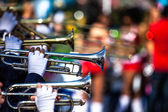 Brass Band in uniform performing — Foto Stock