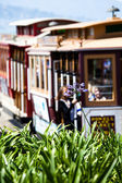 San francisco Hyde Street Cable Car Tram of the Powell-Hyde in California USA — Stock Photo